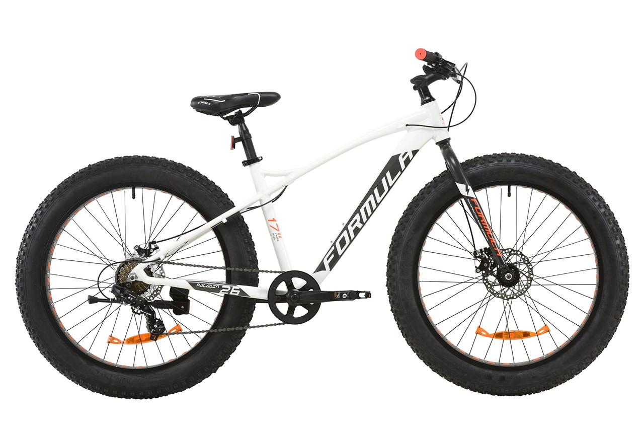"""Велосипед 26"""" Formula PALADIN DD 2020 (бело-серый с оранжевым (м))"""
