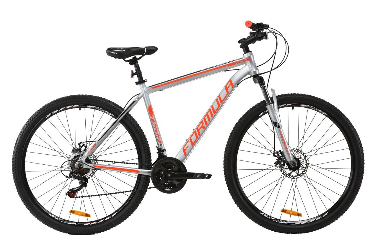 """Горный велосипед AL 29"""" Formula THOR 1.0 AM DD 2020 (серебристо-черный с красным)"""