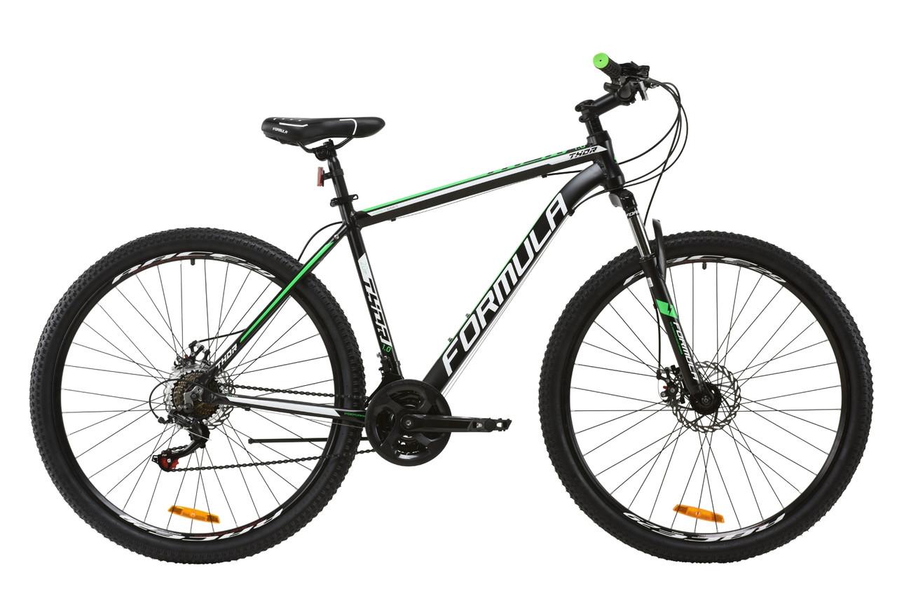 """Горный велосипед AL 29"""" Formula THOR 1.0 AM DD 2020 (черно-зеленый (м))"""