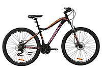 """Горный велосипед AL 27.5"""" Formula MYSTIQUE 1.0 AM DD 2020 (черно-оранжевый с сиреневым (м))"""