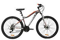 """Горный велосипед AL 27.5"""" Formula MYSTIQUE 1.0 AM DD 2020 (серебристо-оранжевый с белим)"""