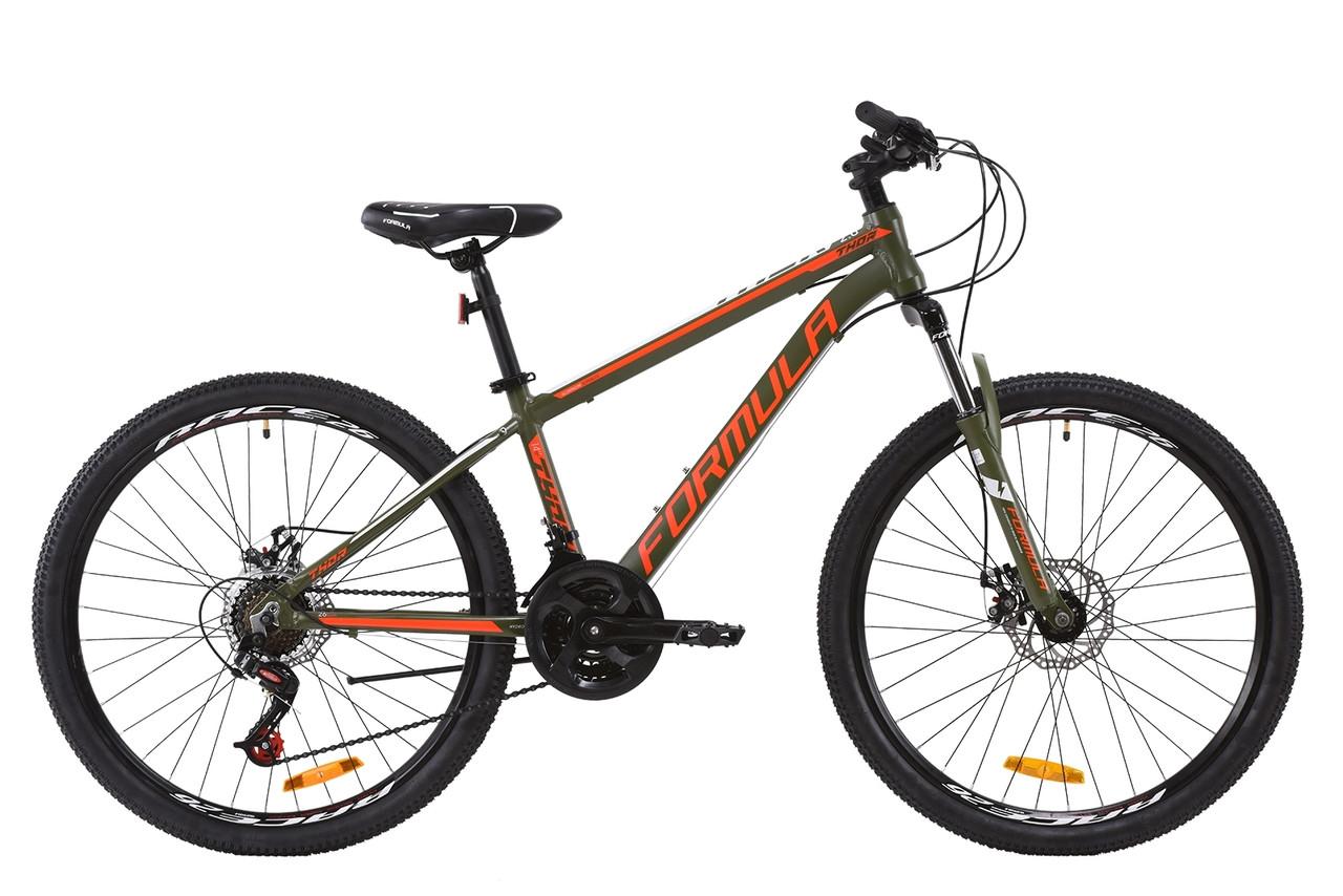 """Горный велосипед AL 26"""" Formula THOR 2.0 AM DD 2020 (хаки с красным и белым (м))"""