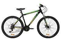 """Горный велосипед AL 27.5"""" Formula MOTION AM DD 2020 (черно-салатово-желтый)"""