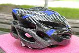 Шлем велосипедный Carbon blue, фото 3