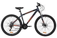 """Горный велосипед AL 27.5"""" Formula MOTION AM DD 2020 (серый с коралловым)"""