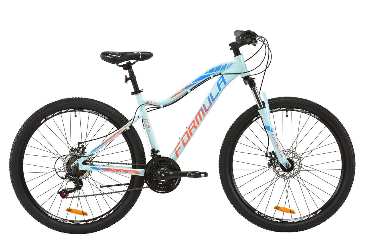 """Горный велосипед AL 27.5"""" Formula ALPINA AM DD 2020 (бирюзово-синий с коралловым)"""