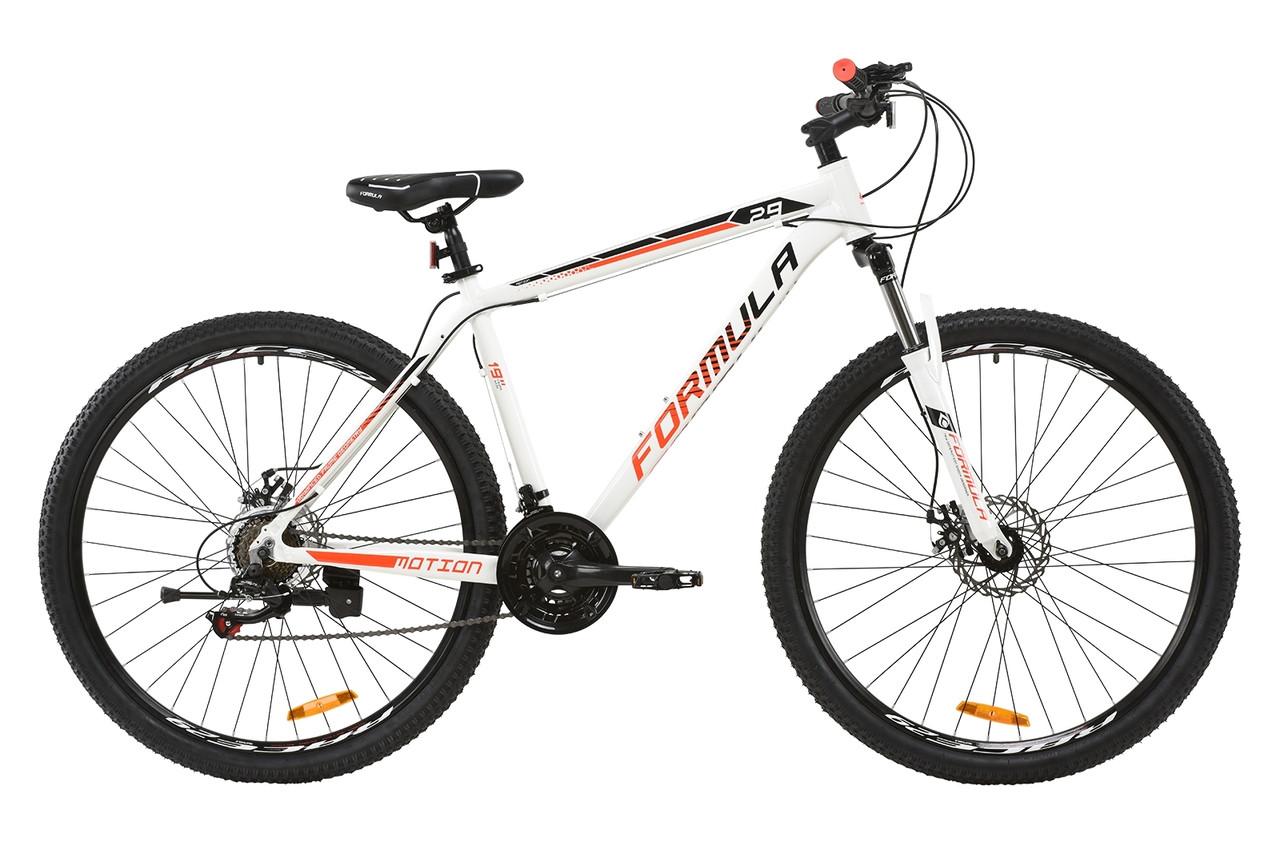 """Горный велосипед AL 29"""" Formula MOTION AM DD 2020 (бело-черно-красный)"""