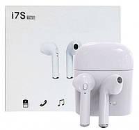 Беспроводные Bluetooth наушники airpods i7s tws Белые