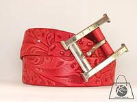 Женский ремень кожаный 052