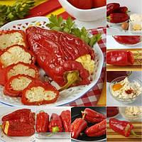Перец, фаршированный брынзой и яйцами