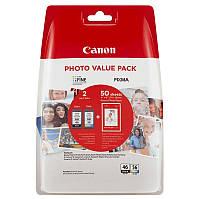 Картридж Canon (PG-46/CL-56) Pixma E404/E464/E484 Black/Color (9059B003) + Фотобумага Canon (GP-501) 50л