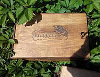 Декоративная коробка из дерева состаренная с гравировкой, фото 1