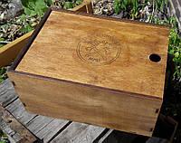 Декоративная коробка из дерева состаренная, фото 1