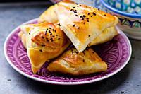 Самбусик - закусочные хрустящие пирожки с начинкой