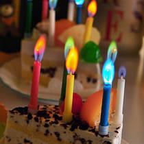 Свечи с цветным пламенем SoFun для торта 5 шт