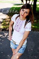 Жіноча футболка з вишивкою Мережка фіолет (без вишивки на рукавах)