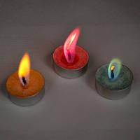 Свечи с цветным пламенем SoFun чайные свечи 6 шт, фото 1