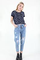 Штаны женские Wear classic 9102 джинс (Синий XL)