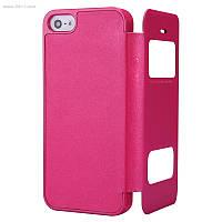 Чехол Nillkin Sparkle Leather Case для iPhone 5/5s и iPhone SE Hot Pink