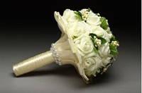 Букет свадебный айвори Розы