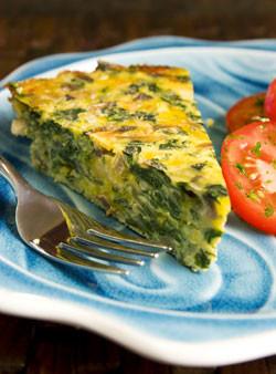 Хубизет с сыром и шпинатом