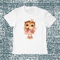 """Детская футболка с принтом """"Совенок принцесса"""", фото 1"""