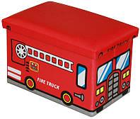 Пуф-короб для игрушек Пожарная Машина kv101