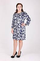 Платье женское MissFashion 6114 батал (Синий 52)