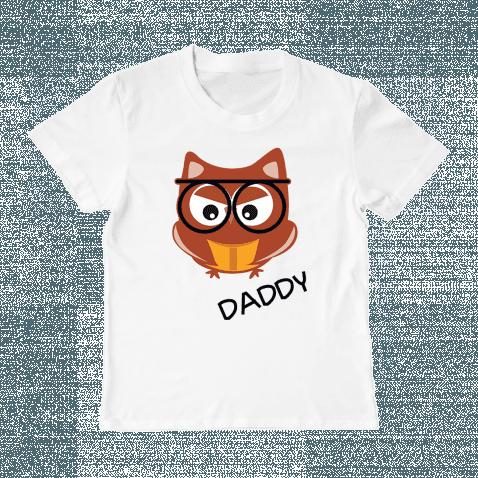 """Детская футболка с принтом """"Папа Сова"""", фото 1"""