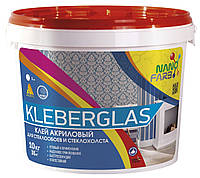 Клей акриловый Kleberglas для стеклообоев и стеклохолста НаноФарб (NanoFarb) 10кг