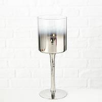 Подсвечник Грация серебряное стекло h25см Гранд Презент 1511700