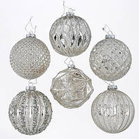 Набор новогодних шаров из 6-ти шт шампань стекло d10см Гранд Презент 7588800