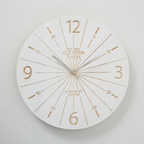 Настенные часы дерево белый L38см 1018516 1018516 1018516