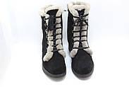 Замшеві черевики чорні Sasya 521-83, фото 4