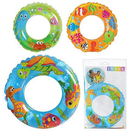 59242 Круг для плавания для бассейна и моря детский, диаметр 61 см, фото 2
