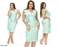 Легкое летнее платье батал (р. 48-54) 5716-1 АРЛ