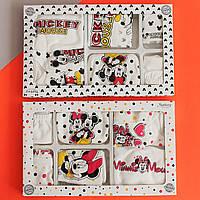 26497 Набор одежды MICKEY Minnie для новорожденного на выписку из роддома 7 предметов
