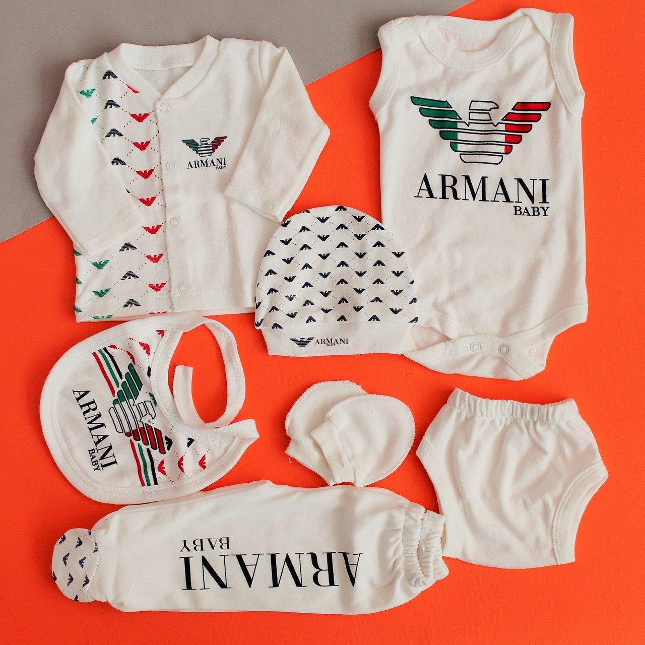 26497-7 Одежда на выписку ARMANI для новорожденного 7 предметов