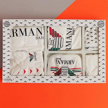 26497-7 Одежда на выписку ARMANI для новорожденного 7 предметов, фото 2