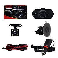 Автомобильный видеорегистратор HAWKEYE JS-322 камера-регистратор с микрофоном HD 1080P (2 камеры)