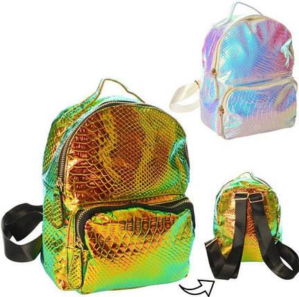 1082-2 Рюкзак перламутровый с застежкой молнией, фото 2