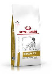 Корм Royal Canin Urinary S/O Moderate Calorie Dog Роял Канін Урінарі Модетате дієта для собак 1,5 кг