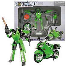 52100 Трансформер Мотоцикл Kawasaki ROAD BOT, 1:24, 2 в 1,свет,в коробке