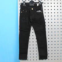 88835 Черные джинсы теплые для девочки с пояском тм Seagull размер 134,140,146,152,158,164 см
