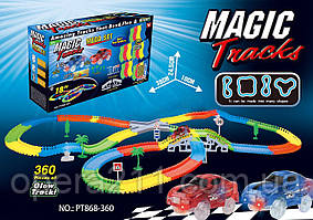 Magic Tracks 360 (модель B) - игрушечный гоночный трек-конструктор + 2 машинки (AS SEEN ON TV)