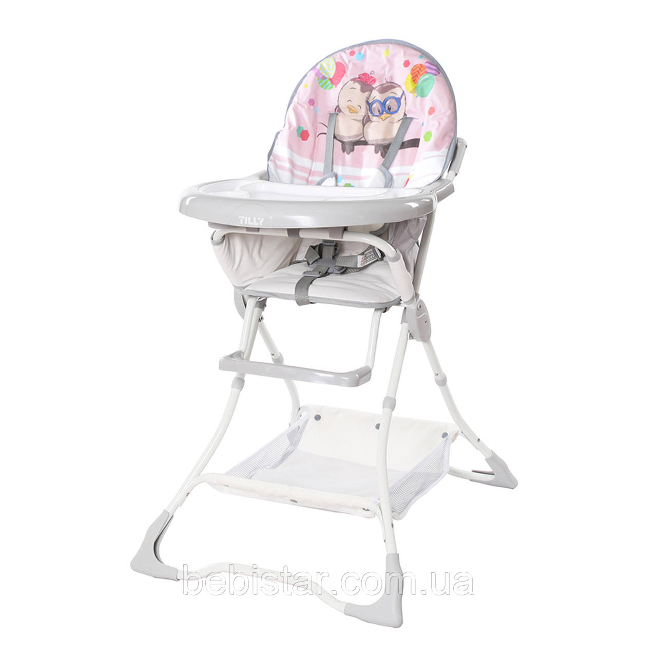 Стульчик для кормления розовый с птенцами Tilly Buddy съемный чехол корзина для ребенка с 6 месяцев до 3-х лет