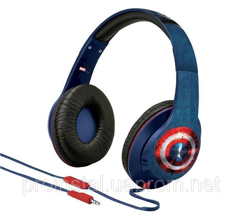 Наушники eKids/iHome MARVEL, Avengers Civil War, Captain America, Mic
