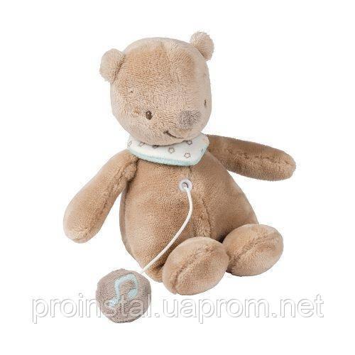 Nattou М'яка іграшка 21см з музикою ведмедик Базиль 562089