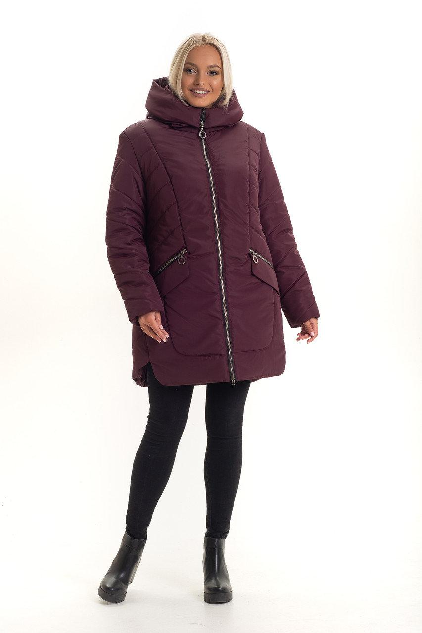 Зимняя женская куртка без меха размеры 48,50
