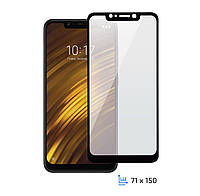 Захисне скло 2E Xiaomi Pocophone F1 2.5D Black border FG
